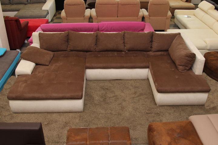 Cand XXL U-alakú ülőgarnitúra, ágyazható, ágyneműtartós