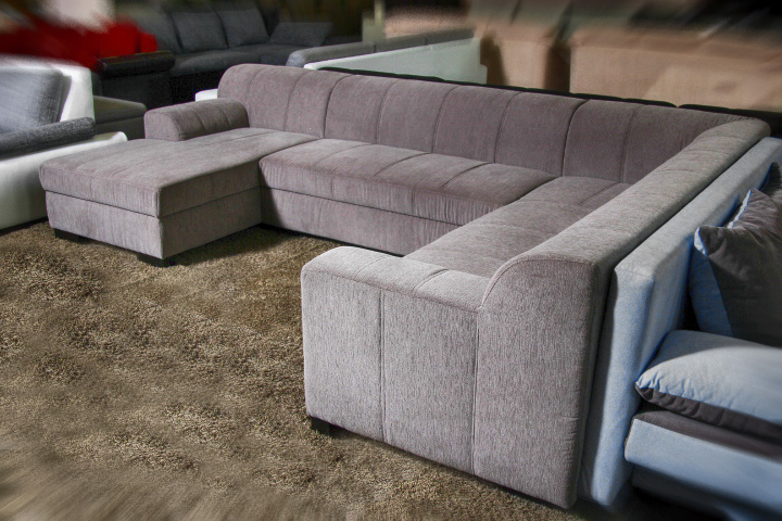 Multi U-alakú ülőgarnitúra rugós és szivacsos kialakítással