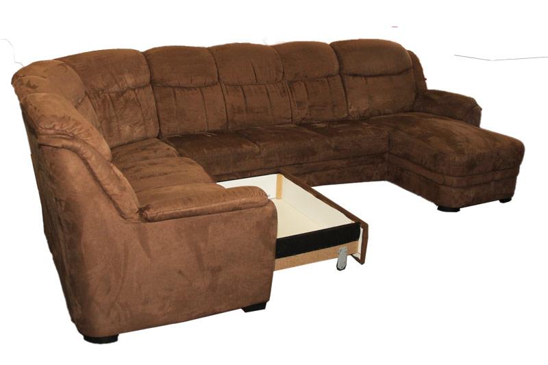 BU29 u-formájú barna ülőgarnitúra