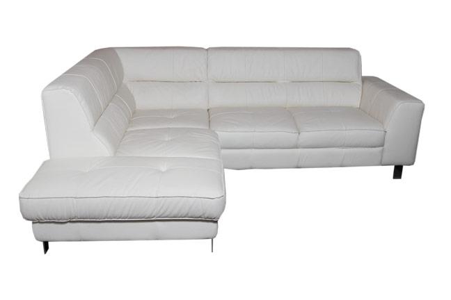 Fehér bőr ülőgarnitúra ZG1605