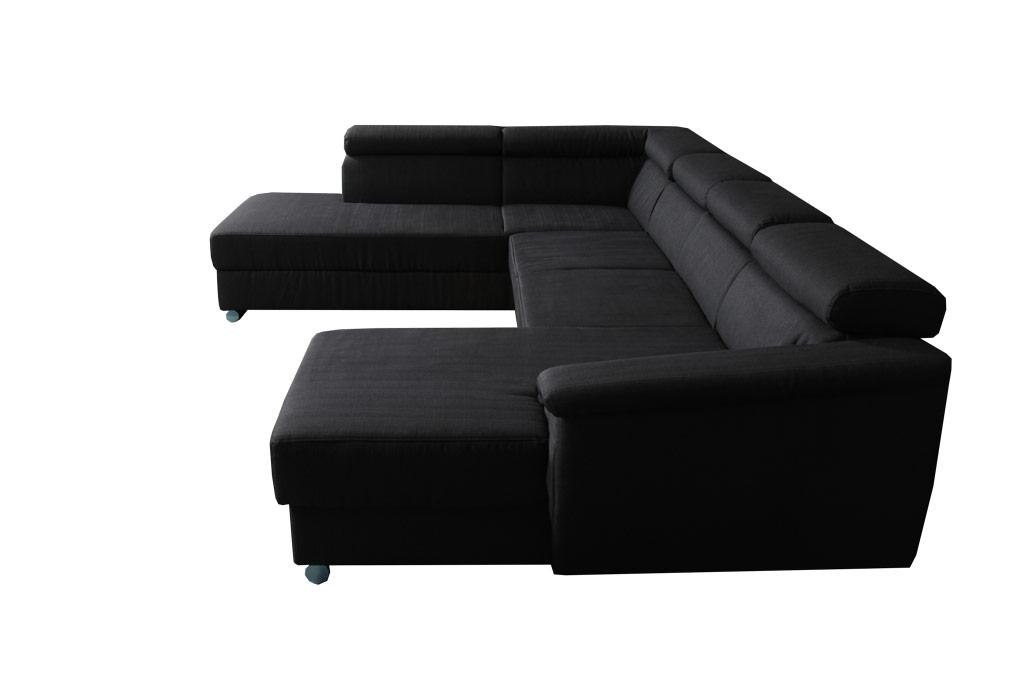 FU1604 U-alakú ülőgarnitúra, ágyazható, ágyneműtartós