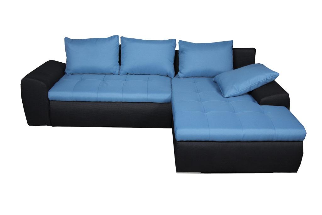 Cecil L-alakú ülőgarnitúra, ágyazható és ágyneműtartós
