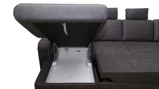 Medison u alakú ülőgarnitúra ágyazható funkcióval